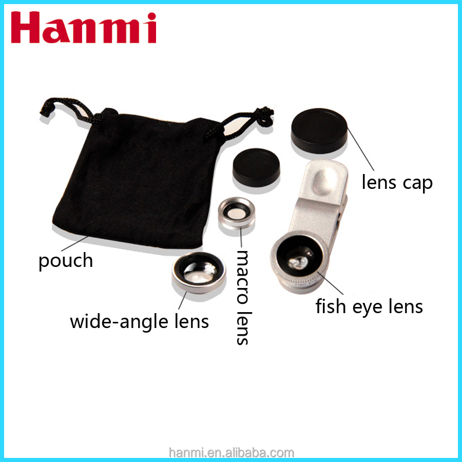 3 in 1 phone camera lens for galaxy note 2, fish eye lens