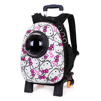 new design amazon top seller 2018 pet capsule dog carrier bag with wheels  for pet product fa059aee6e