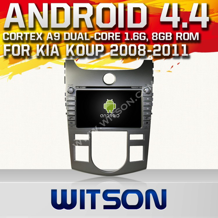WITSON ANDROID 4.4 FOR KIA CERATO CAR STEREO WITH 1.6GHZ FREQUENCY 1080P 1G DDR RAM 8GB FLASH CAPACTIVE