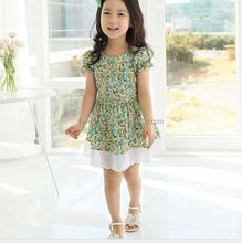 2014 Korea fashion baby girls dress cute pink color 3 - 8 years children's princess dress on sale kid's dress