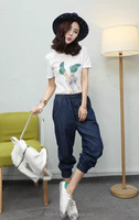 women loose type harem jeans pants