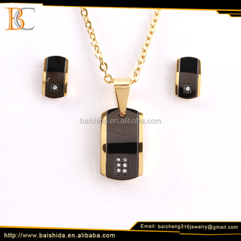 best selling products charm dubai products stainless steel jewelry set for man