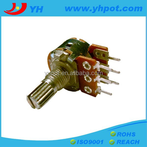 jiangsu 16mm dual gang rotary joystick 50 ohm potentiometer without switch