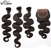 2015 Hot Selling Factory Direct Sale Wholesale Brazilian Remy Hair Chocolate