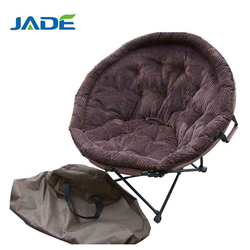 Folding print sports moon chair for promotion Outdoor setting travel metal folding portable planet chair