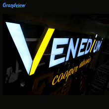 Outdoor use wall mount shop sign board 3D side lit Led channel letters/mini letters