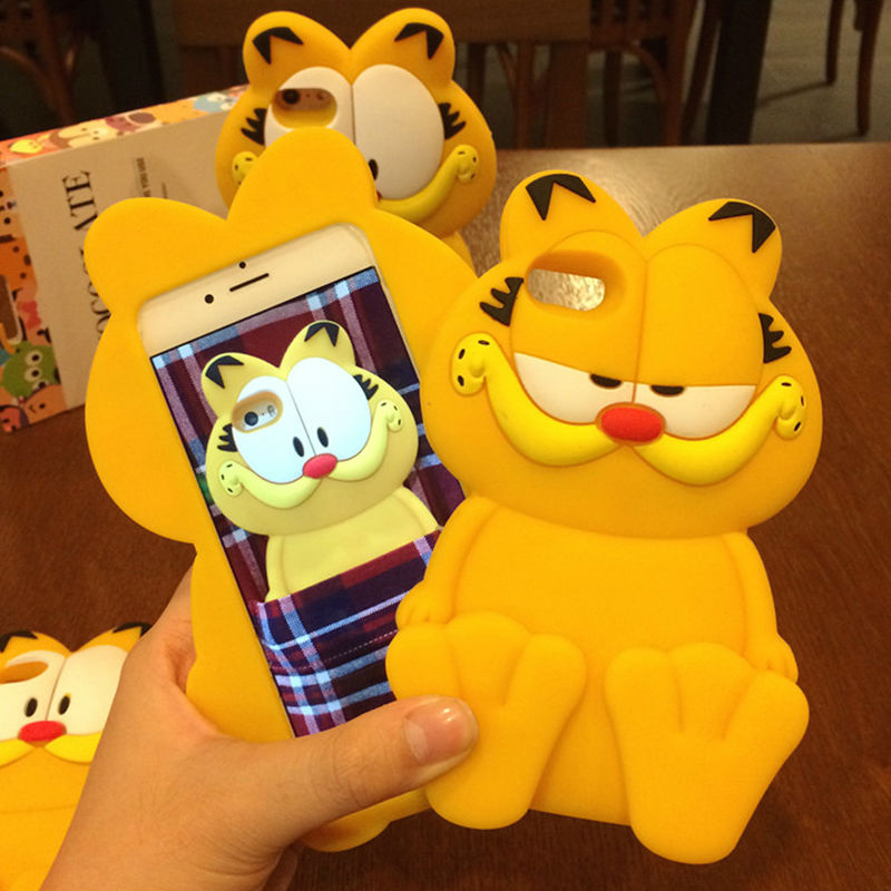 New Cartoon Garfield Cat Soft Silicon Phone Back Cover Phone Case For Iphone