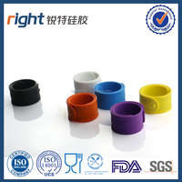 Cute ruler silicone slap bracelet for kids' gift/rubber ruler snap wristband for student