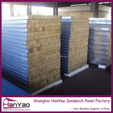 Fireproof and Insulated Metal Faced Fiber Glass Wool Sandwich Panel for Wall and Roof