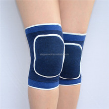 Cotton knitted elastic cricket/volleyball knee pads wholesale sponge padded kneepad fabric knee brace for arthritis
