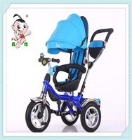2016 new design hot sale elastic canopy three wheels bicycle with high quality for 2-4years old