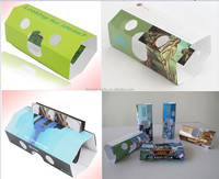 Folding Disposable promtion gift card stereo viewer 3d card