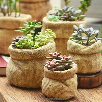 Artificial Jute Bag Decorative Mini Cement