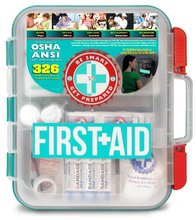 first aid kit survival, 326 pieces large first aid kit with tilting shelves