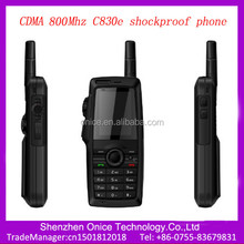 cdma mobile phone c830e 2.2 inch shockproof unlocked outer antenna cdma 800Mhz handset