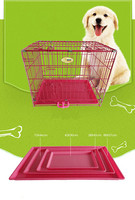 Wholesale Pet Accessories Innovative Foldable Strong Stainless Steel Pet Dog Cage dog kennel with plastic tray