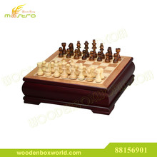 Chess Set with Luxury Velvet Cherrywood Box