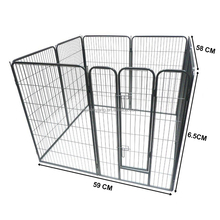 popular eight panels black heavy duty strong dog exercise pen