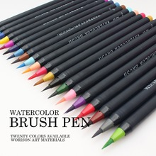 20 colors good quality watercolor brush pen for writing and drawing