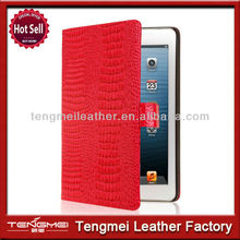 Newest unique design smart cover for ipad mini case red crocodile