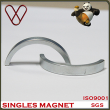 Customized rare earth ndfeb strong half ring shaped permanent magnet
