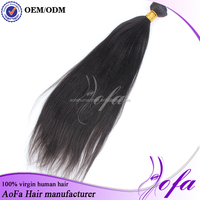 Healthy Remy Peruvian Hair Great Lengths Bonded Yaki Straight Hair Extensions