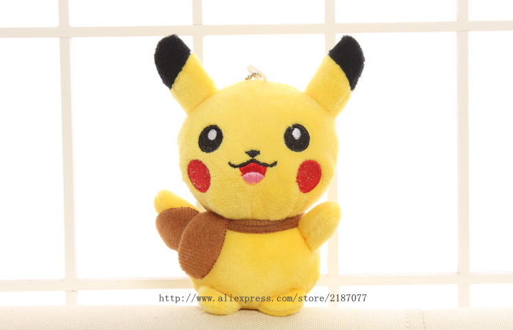Super HOT 12CM Pokemon Kawaii Gift Plush Toy Yellow Pikachu Doll Cat Stuffed Plush Doll , Stuffed Animal Cat plush toy doll