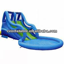 the hottest inflatable pool water slide/inflatable swimming pool with slide