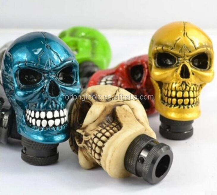 Manual Car SUV Gear Stick Shift Lever Knob Wicked Carved Skull Head