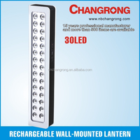 Rechargeable emergency LED light with wall mounted