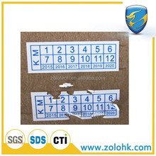 Custom printing adhesive label, Factory anti-counterfeiting paper label, brittle eggshell sticker strong adhesive
