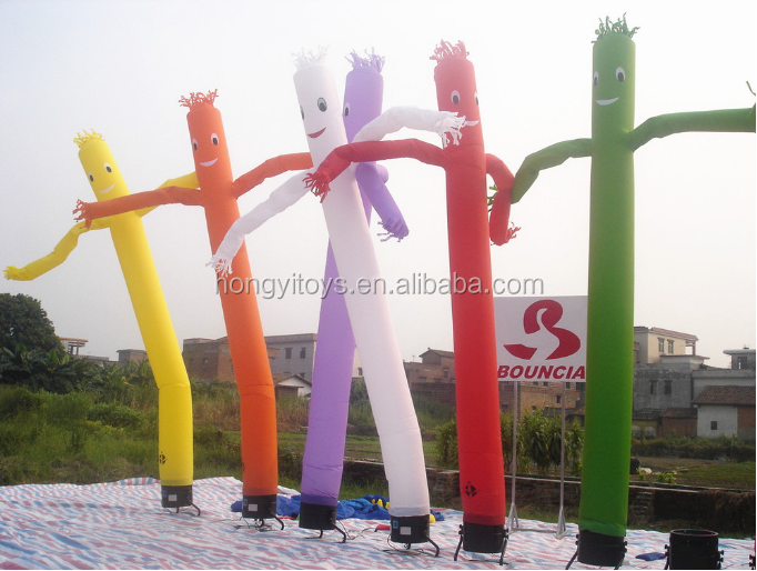 Custom Sky Tube Balloon / Giant Person Model Advertising Air Dancer With Blower