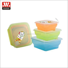 3pcs microwave safe foldable container stackable food box eco friendly lunch box