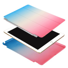 Rainbow Color Slim Fit PC & Leather Flip Stand Cover with Auto Sleep Wake Feature Smart Case for Apple iPad Mini / pro
