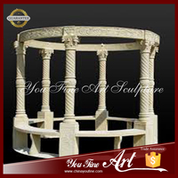Hand Carved Simple And Beautiful Natural Stone Column Gazebo