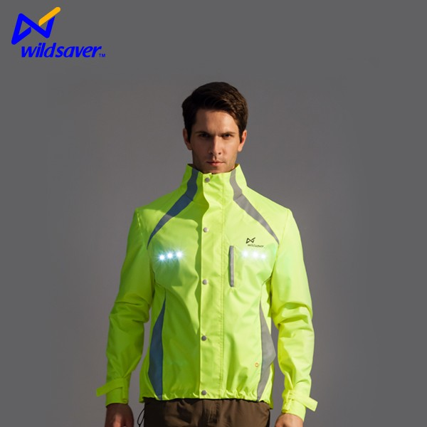 LED Flash motorcycle riding jacket