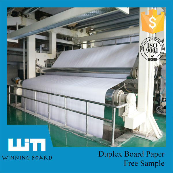 Falcon Paper White Coated Carton Grey Back Duplex Board In Roll