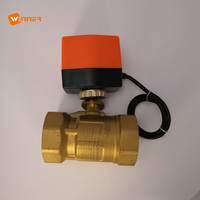 Electric Rotary With Brass Electrical Motor Motorized Ball Valve Actuator