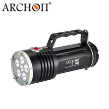 Archon 5000 Lumens Rechargeable Magnetic Switch Aluminum IP68 LED Diving goodman handle Flashlight
