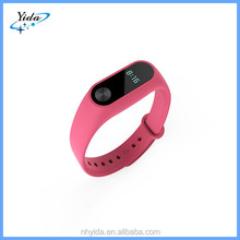2016 pink smart wireless fitness band for xiaomi mi band 2
