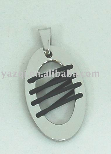 Stainless Steel Pendant with Rubber wire
