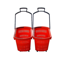 High Quality 45L Plastic Roll Shopping Basket