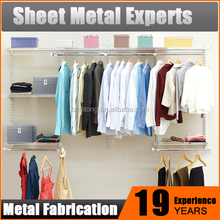 Wholesale metal steel wall mounted clothes hanger bedroom storage unit
