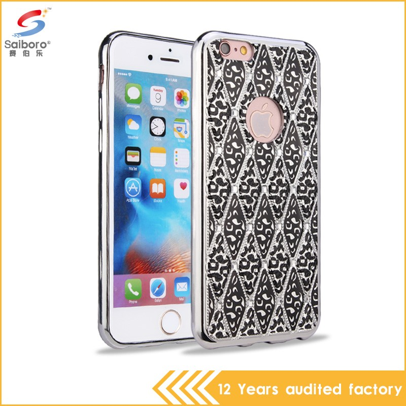 Personalized shockproof crystal diamond case for iphone 6