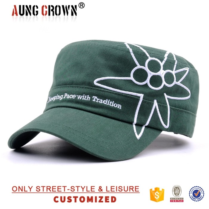 Wholesale designer embroidered military hats