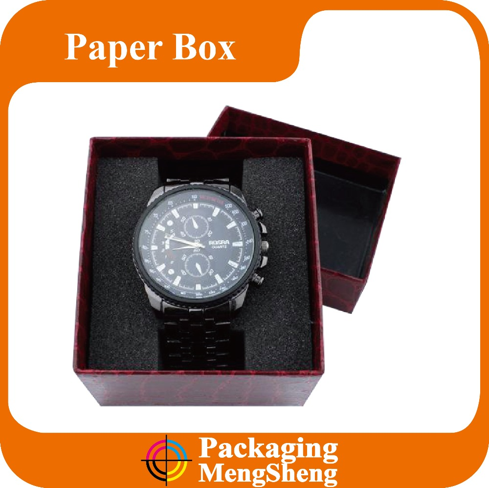 Custom Cardboard Watch Packaging Box With sponge