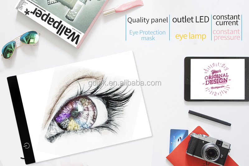 Philippines Ultra-thin Translucent LED Light Pad A4 OEM Tattoo Acrylic Drawing Board Light box USB Portable Stencil Tracing Pad