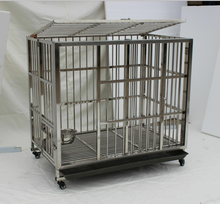 Large/small/medium customizable size steel/plastic pet cage tray dog container house