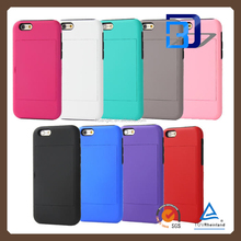 For Apple iPhone 6 4.7 inch card holder combo box silicone protective cover support mobile phone case