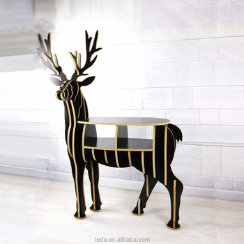 wooden MDF carved diy wooden animal figures wooden deer